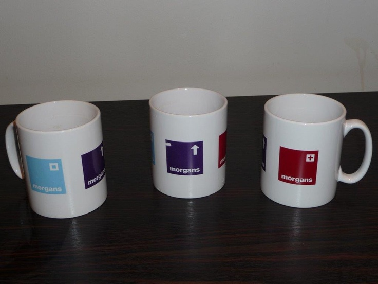 Mug branding, Pantone Matched for our client Morgans City Living.