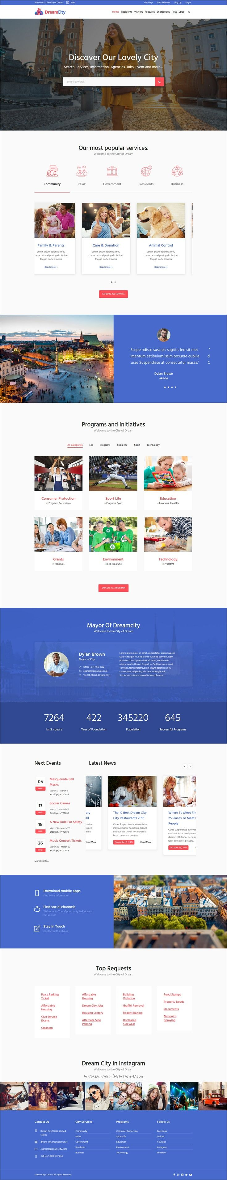 Dream city is a wonderful responsive #WordPress theme for #government #municipal and city portal websites download now➩ https://themeforest.net/item/dream-city-city-portal-government-municipal-wordpress-theme/19398021?ref=Datasata