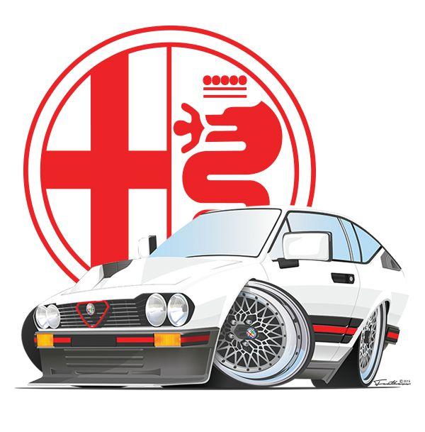 New style, done in illustrator showcasing the ZAR Alfa Romeo Gtv6 3.0L