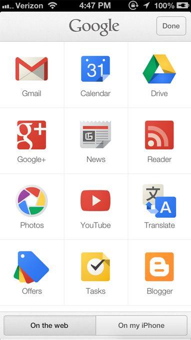 Google Search Mobile version