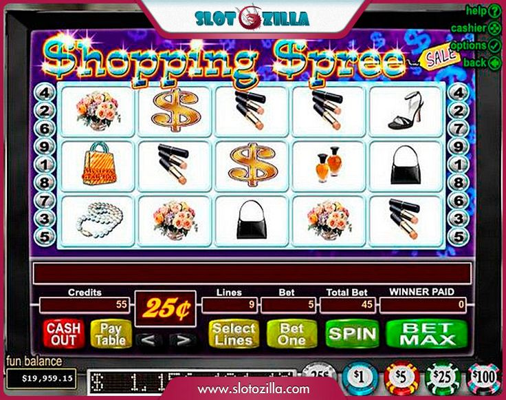 Shopping Spree free #slot_machine #game presented by www.Slotozilla.com - World's biggest source of #free_slots where you can play slots for fun, free of charge, instantly online (no download or registration required) . So, spin some reels at Slotozilla! Shopping Spree slots direct link: http://www.slotozilla.com/free-slots/shopping-spree