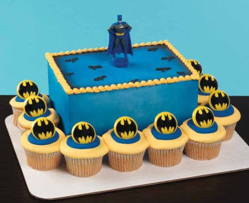 Batman  Cake Kit with Rings Spoon Topper- gavin likes this