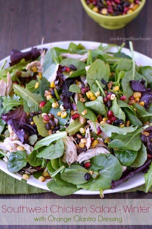 Southwest Chicken winter salad with orange cilantro dressing ...