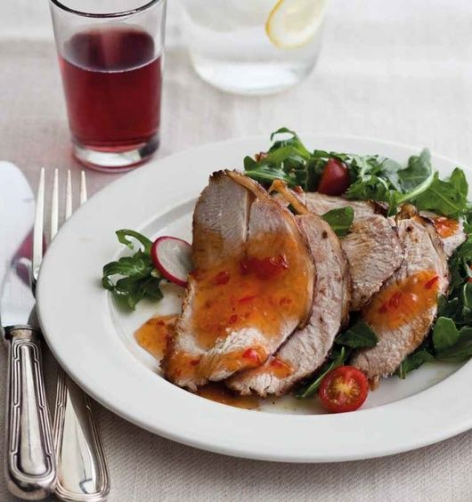 Dry-Rubbed Roasted Turkey with Sweet Chili – Learn how to make #Thanksgiving turkey in a simple, effective, and utterly delicious way.