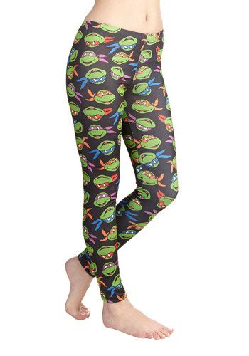 Heroes in a Half-Shell Leggings. Dress up in these Teenage Mutant Ninja Turtles leggings and flaunt the worlds most fearsome fighting team! #multiNaN