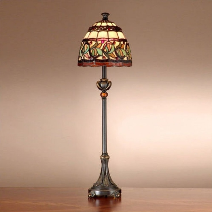 Dale Tiffany Lamps Aldridge Buffet Lamp In Antique Bronze And Gold    TB101109