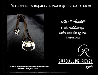 """Joyeria GR- Guadalupe Reyes:  Collar """" Géminis""""Diseño: Guadalupe Reyes Hecho a ..."""