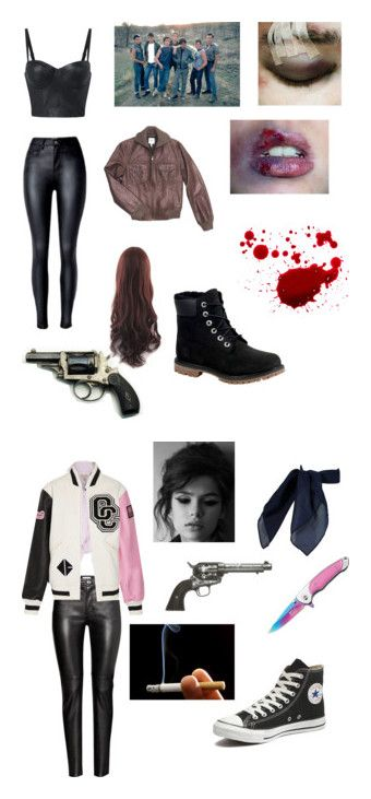 """""""The outsiders"""" by all-things-imaginable ❤ liked on Polyvore featuring Hermès, GET LOST, Timberland, H&M, Opening Ceremony, TC Fine Intimates, Handle, Revolver and Converse"""
