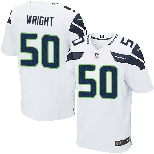 ... Richard Sherman 2015 Super Bowl XLIX White With Navy Blue Two Titans  Derrick Henry 22 jersey Nike Seahawks 50 K.J. Wright White Mens Stitched NFL  Elite ... 225611afd