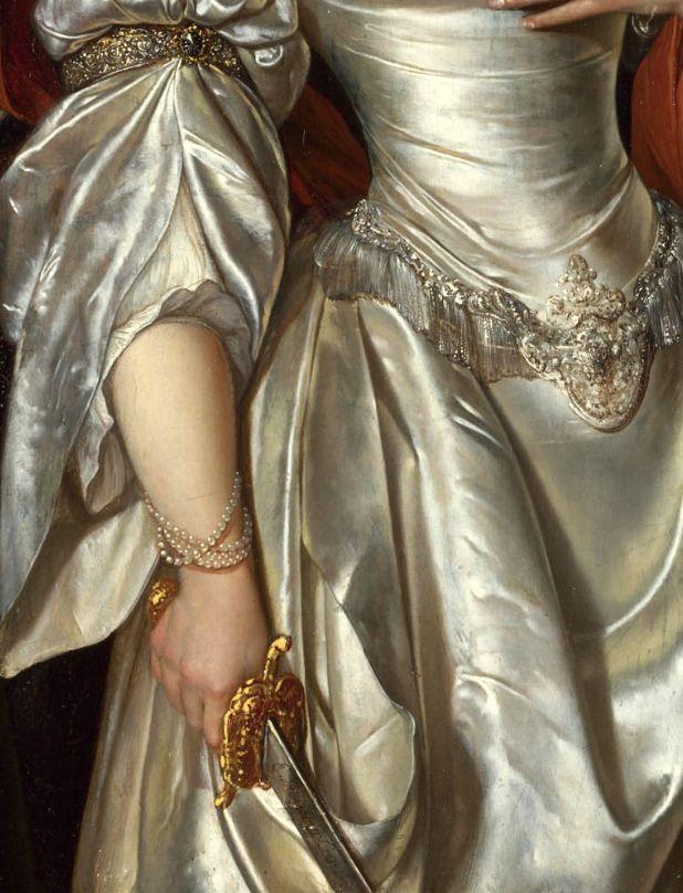 """Eglon Van der Neer """"Judith"""" (detail), About 1678. Período Barroco Flamenco. Siglo de oro de Neerlandés"""