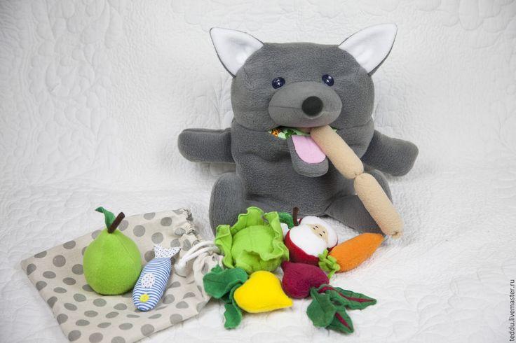 Купить Волк обжора. Развивающая игрушка. - развивающая игрушка, игрушка для детей, игрушка своими руками