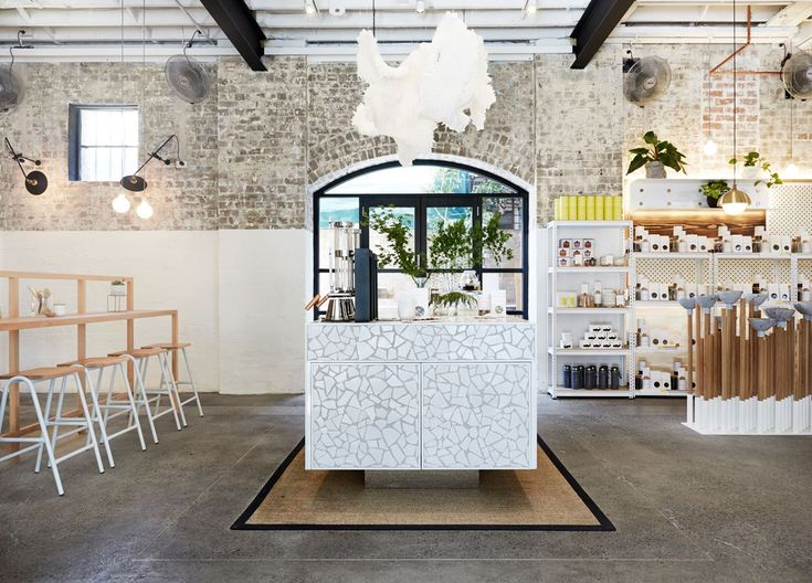 The Rabbit Hole Oraganic Tea Bar in Redfern, Australia by Matt Woods Design