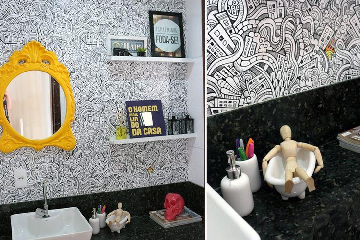 Adesivo vinílico para pintar lavabo