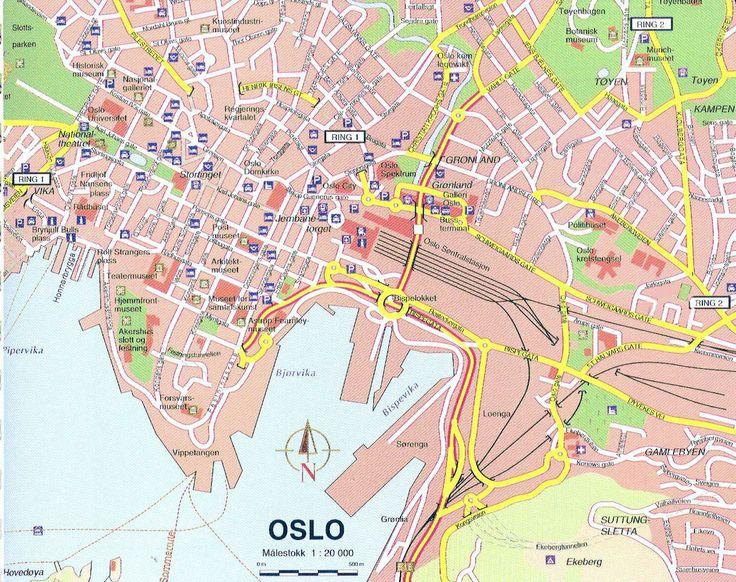 Map of Oslo City Center