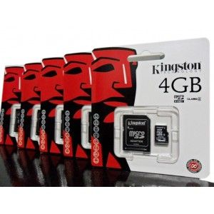 Kingston Micro SDHC 4GB Class4 + Adaptador