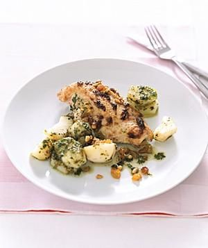 Chicken With Pesto Potatoes recipe