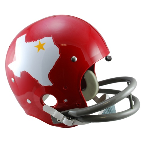 1960 Dallas Texans. The first pro football team in Texas. Now known as the Kansas City Chiefs.