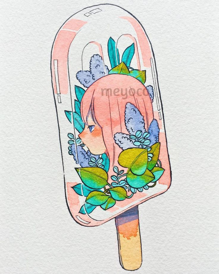 """28.2k Likes, 55 Comments - meyoコ (@meyoco) on Instagram: """"Popsicle  (art tools info: @pearlescentpink)"""""""