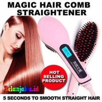 Sisir Catok Pelurus Rambut Ion Electric Brush Straightener Sisir Catok Pelurus Rambut Ion Electric Brush Straightener - sir Catok Pelurus Rambut - Fast Hair Straightener - Catok Sisir : Sebuah Alat sisir rambut yg berfungsi untuk menyisir dan meluruskan rambut.