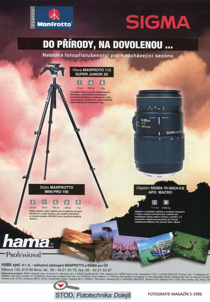 Časopis: FOTOGRAFIE-MAGAZÍN 1996-5  Doporučené prodejny: Fototechnika Dolejš Zadavatel inzerce: Hama s.r.o.. Formát: A4