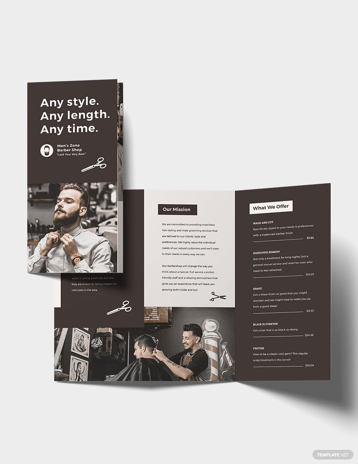 A3 Trifold Brochure Template in 2020 Trifold