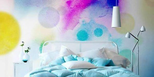 Idee decor: pareti effetto acquerello