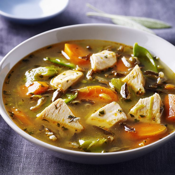 Chicken, Wild Rice & Green Garlic Soup - Because winter ain't done yet! #chickendotca