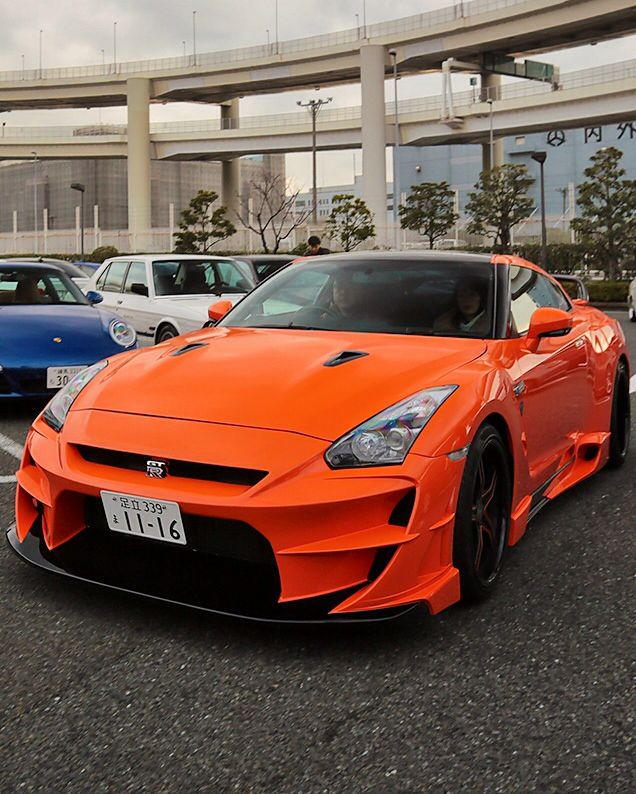 Awesome Orange Nissan GT R Aloof Version 2 By Gallant Abflug
