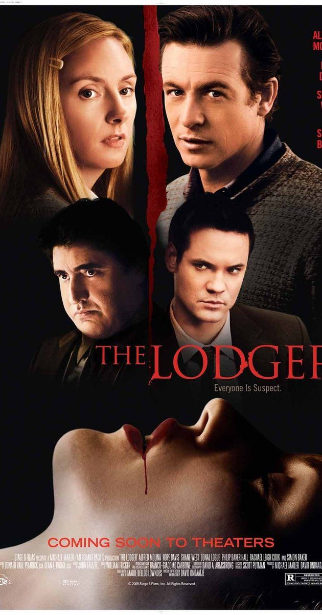 Directed by David Ondaatje.  With Alfred Molina, Hope Davis, Shane West, Donal Logue. A couple rents out a room to a mysterious young man, who may or may not be guilty of a series of grisly neighborhood murders.