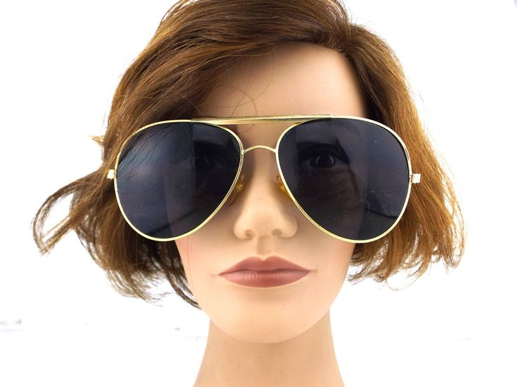 aviator sunglasses. oversize. deadstock. gold sunglasses. vintage aviator sunglasses. metal frame sunglasses. black lenses. http://etsy.me/2ElUiT6 #accessories #eyewear #gold #black #aviator #aviatorsunglasses #vintageaviator #vintagesunglasses #retrosunglasses #men