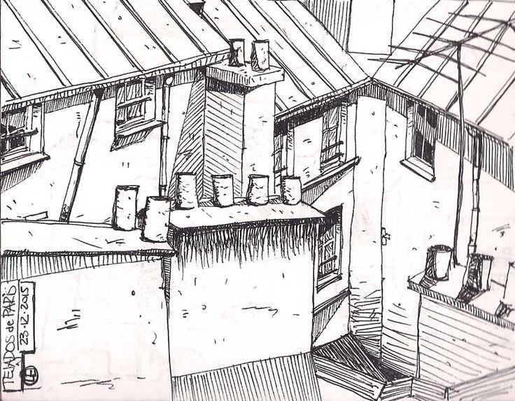 Patio interior y tejados
