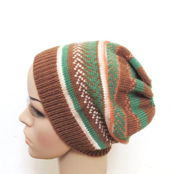 Chunky knit hat Chunky Slouchy Beanie Winter by ShulamitKnittings