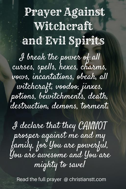 Prayer Against Witchcraft And Evil Spirits Spiritual