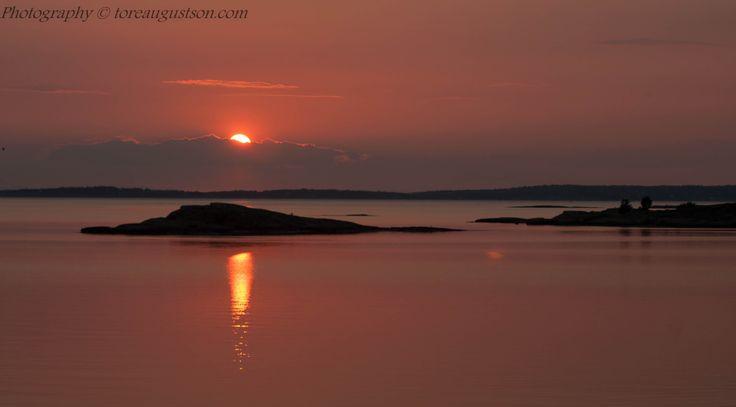 Sunset from Hvaler in Norway