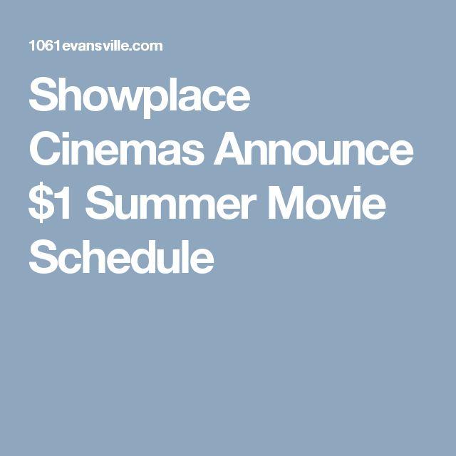Showplace Cinemas Announce $1 Summer Movie Schedule
