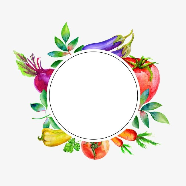 Vegetable Decorative Circular Frame Title Frame Clipart Yellow Squash Purple Radish Png And Vector With Transparent Background For Free Download Frame Clipart Food Graphic Design Food Logo Design