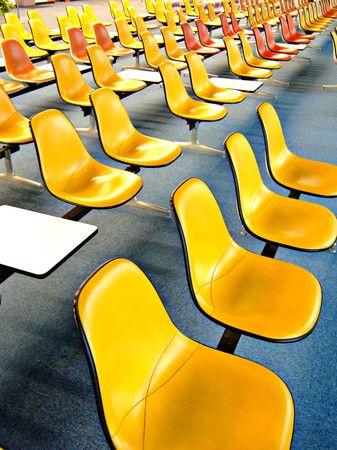 a sea of eames ! #publicdesign #publicspace #yellow