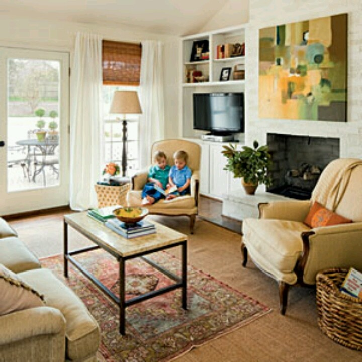 Small Living Room Ideas With Tv: 17 Best Images About Flat-screen T.V. Placement Ideas On