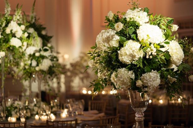 Hydrangea centerpiece in tall vase google search