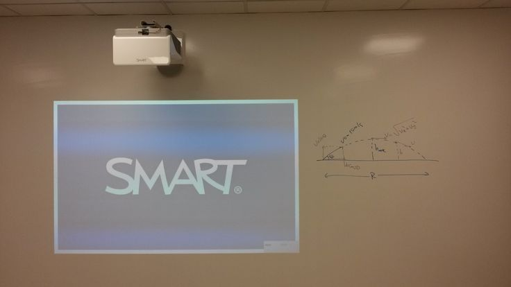 You can use a projector on whiteboard paint