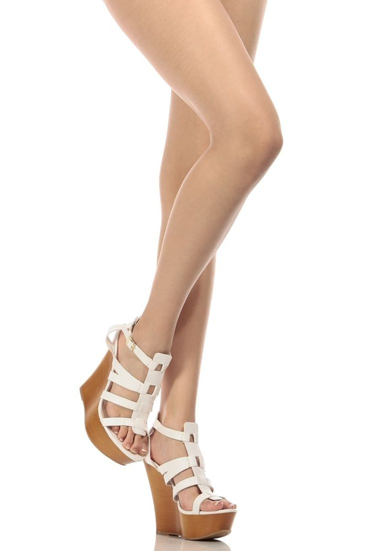 White Faux Leather Cage Wooden Wedges @ Cicihot Wedges Shoes Store:Wedge Shoes,Wedge Boots,Wedge Heels,Wedge Sandals,Dress Shoes,Summer Shoes,Spring Shoes,Prom Shoes,Women's Wedge Shoes,Wedge Platforms Shoes,floral wedges