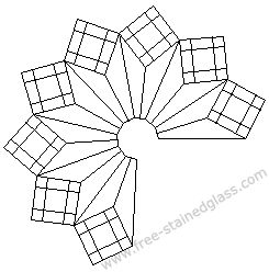 Free Stained Glass Lamp Patterns   Garden stained glass Free patterns.