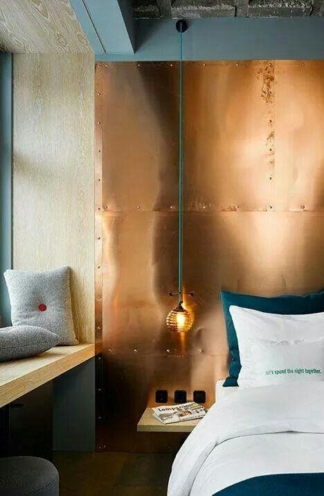 Copper. Backdrop. Vs wood. Contrast.