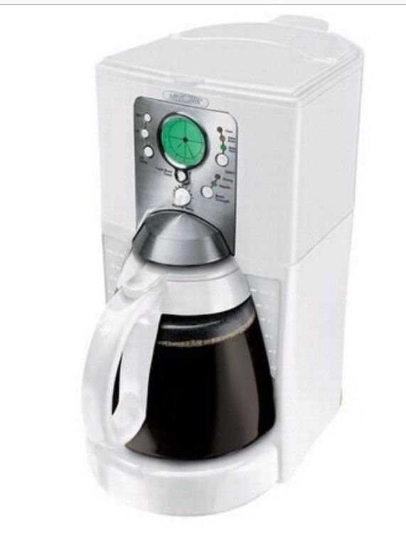 Mr Coffee 12 Cup Programmable Maker White Stainless Ftx20 Mrcoffee