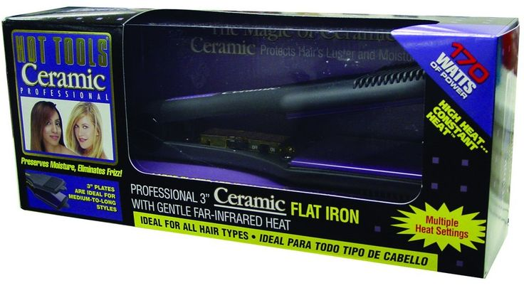 Hot Tools 3' Ceramic Titanium Professional Flat Iron (-1179) >>> More info could be found at the image url.