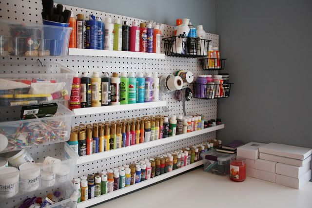 My DIY Home Art Studio with links and tips!  Ikea furniture, Fun Organization, Built in desk and workspace  #MoKoPo