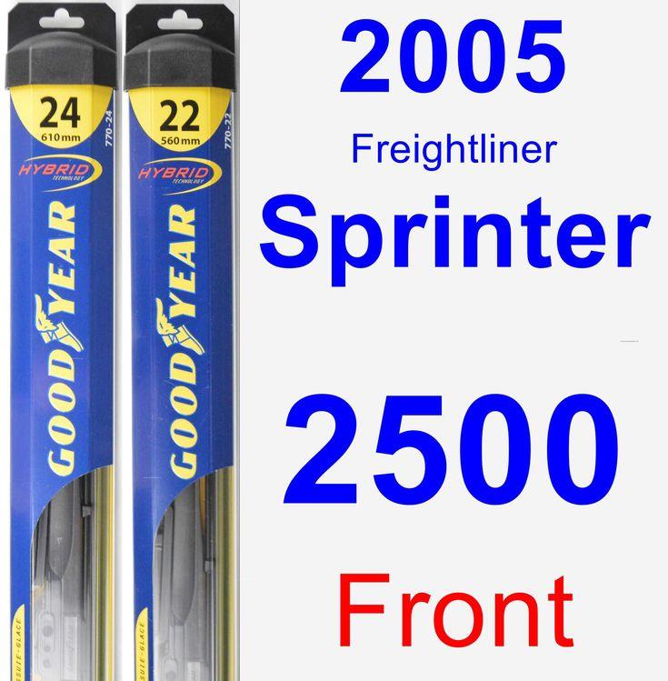 Front Wiper Blade Pack For 2005 Freightliner Sprinter 2500