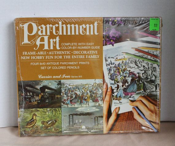 Colorforms Parchment Art  Currier and Ives Series 815  1969