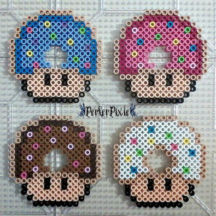 Donut mushrooms perler beads by PerlerPixie