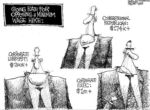 CEOs are paid millions to oppose Minimum Wage hike